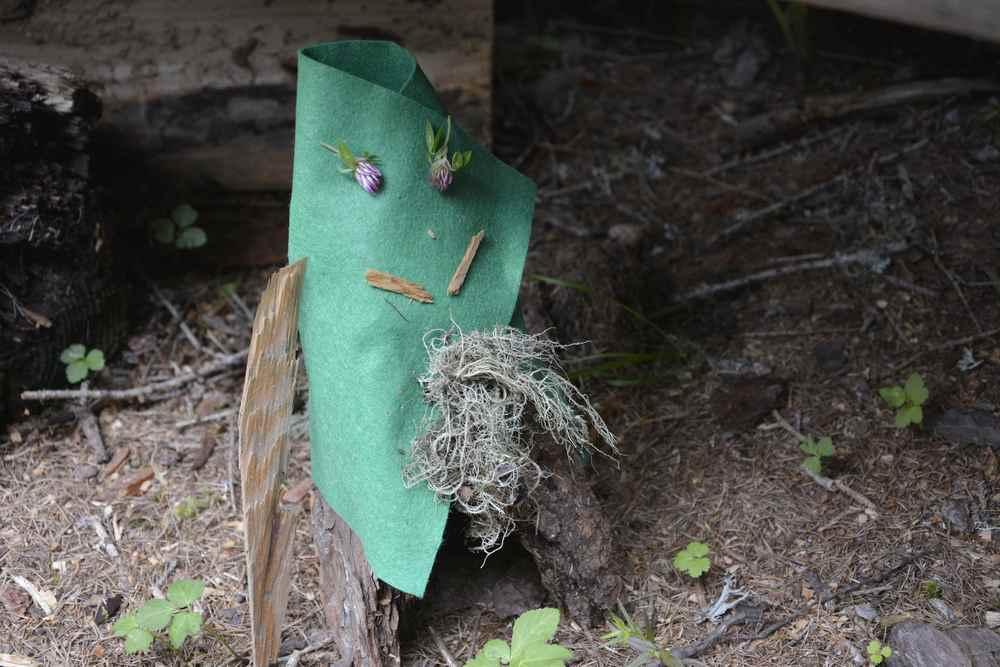 Osttirol mit Kindern: Wir basteln einen Zwerg aus einfachen Dingen, die wir im Wald finden
