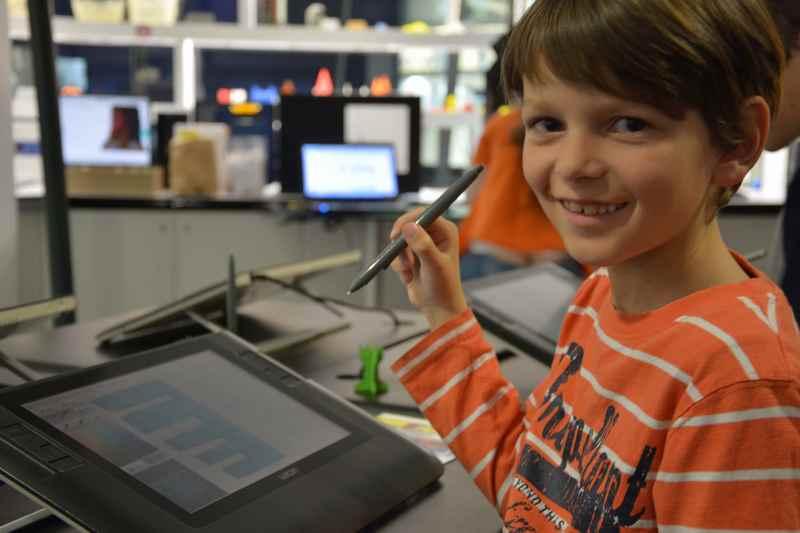 Stundenlang waren wir mit den Kindern im Technik- und Zukunftsmuseum Ars Electronica