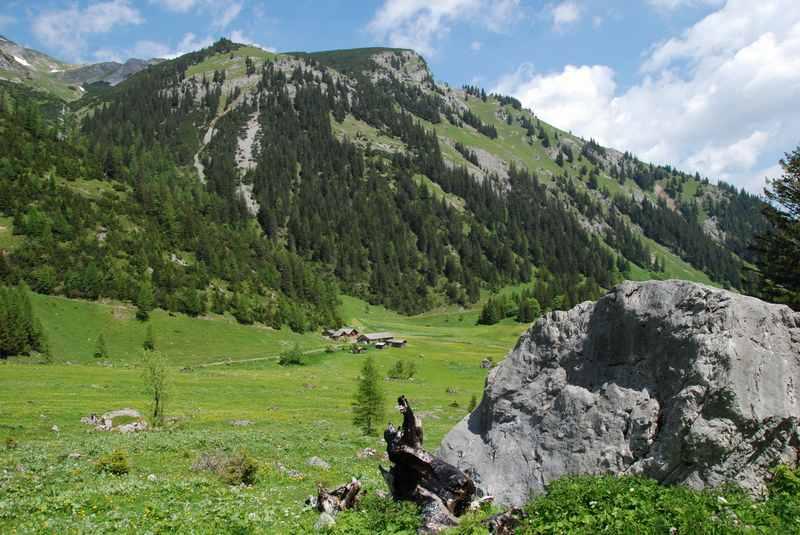 Wandern Brand mit Bergidylle und viel Ruhe, in Vorarlberg nahe der Schweiz