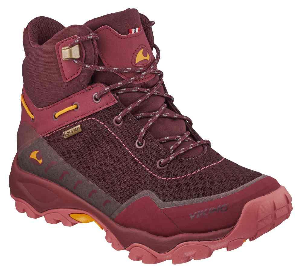 .. oder farbig aus Goretex - mit reflektienden Schnürsenkeln, der Rask jr.