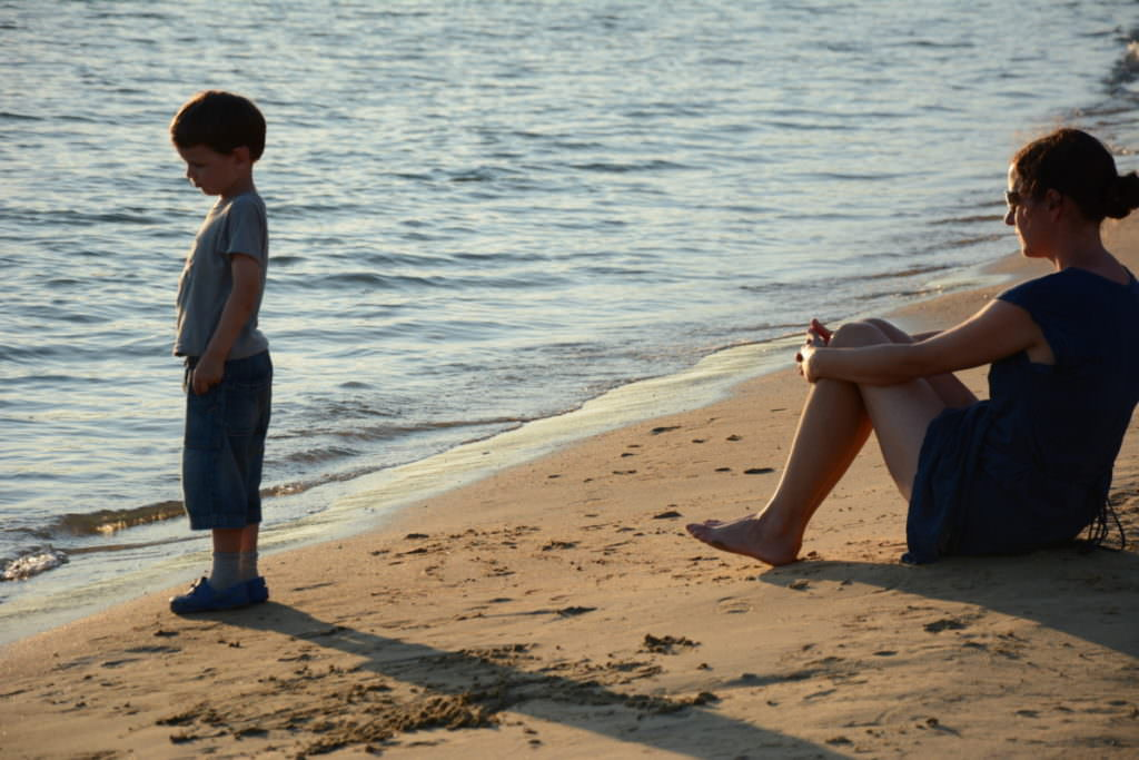 Unser Strand in Aliki, auf Paros Griechenland