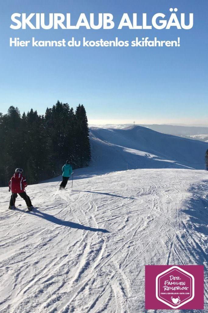Allgäu Winterurlaub mit Kindern - kostenlos auf der Piste skifahren