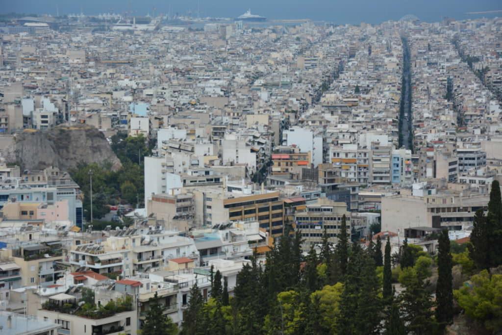 Athen mit Kindern - der Blick von oben auf die Hauptstadt Griechenlands