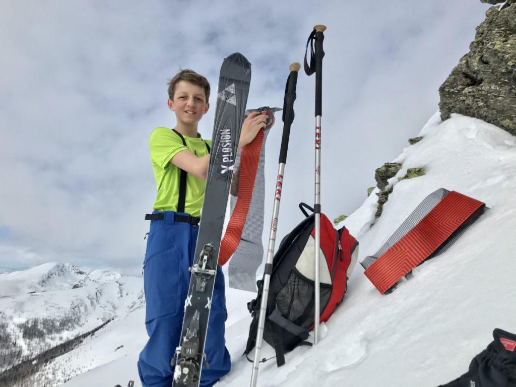 Ausrüstung Skitour mit Kindern