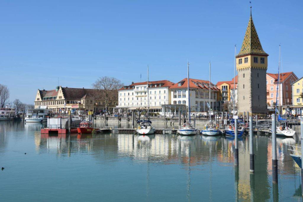 Schönes Ziel mit dem Fahrrad: Der Hafen in Lindau