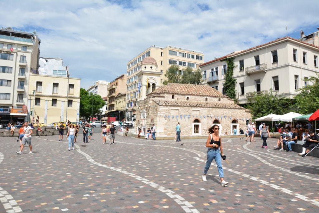 Familienurlaub Athen - der Marktplatz in der Innenstadt