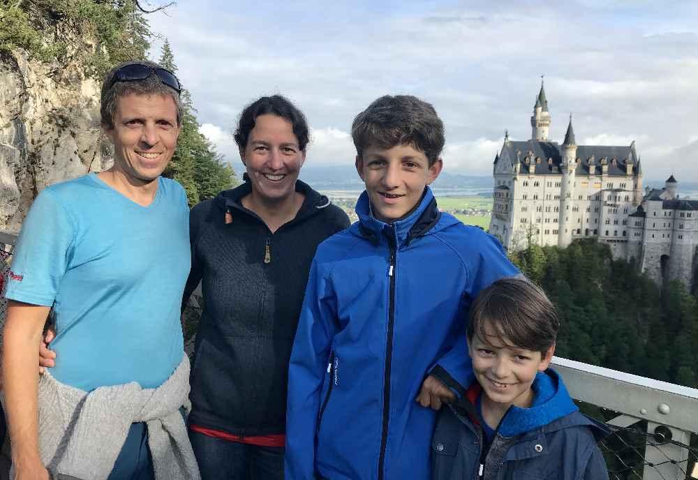 Familienurlaub Deutschland mit Kindern: Beim Schloss Neuschwanstein, Füssen