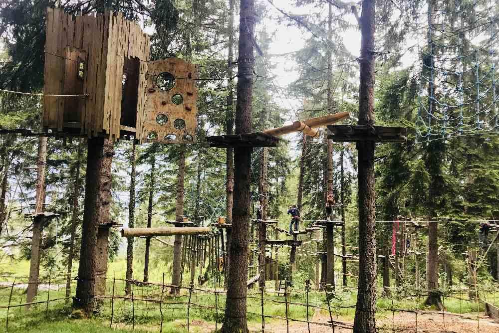 Familienurlaub Zugspitze mit Kindern - unser Topziel: Der Kletterwald
