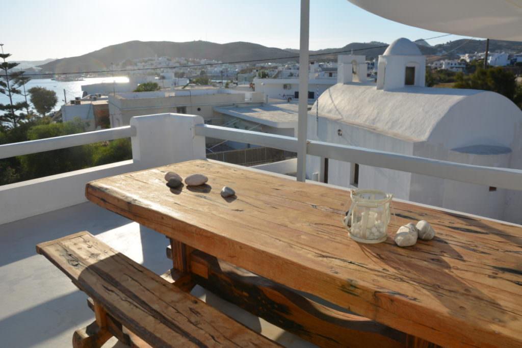 Ferienhaus Milos - die Terrasse ist ein Traum!