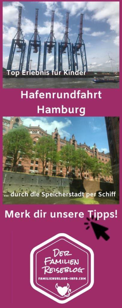 Hafenrundfahrt Hamburg für Kinder merken - mit diesem Pin