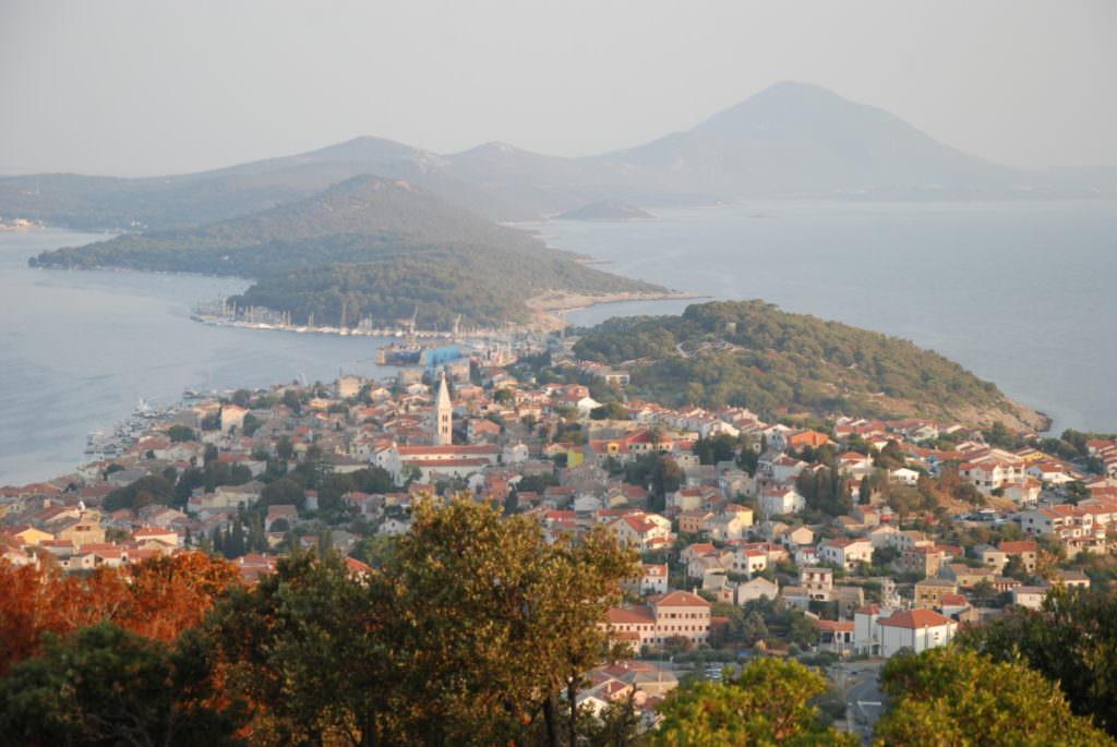 Insel Urlaub Kroatien mit Kindern: Blick auf die Inseln rund um Losinj