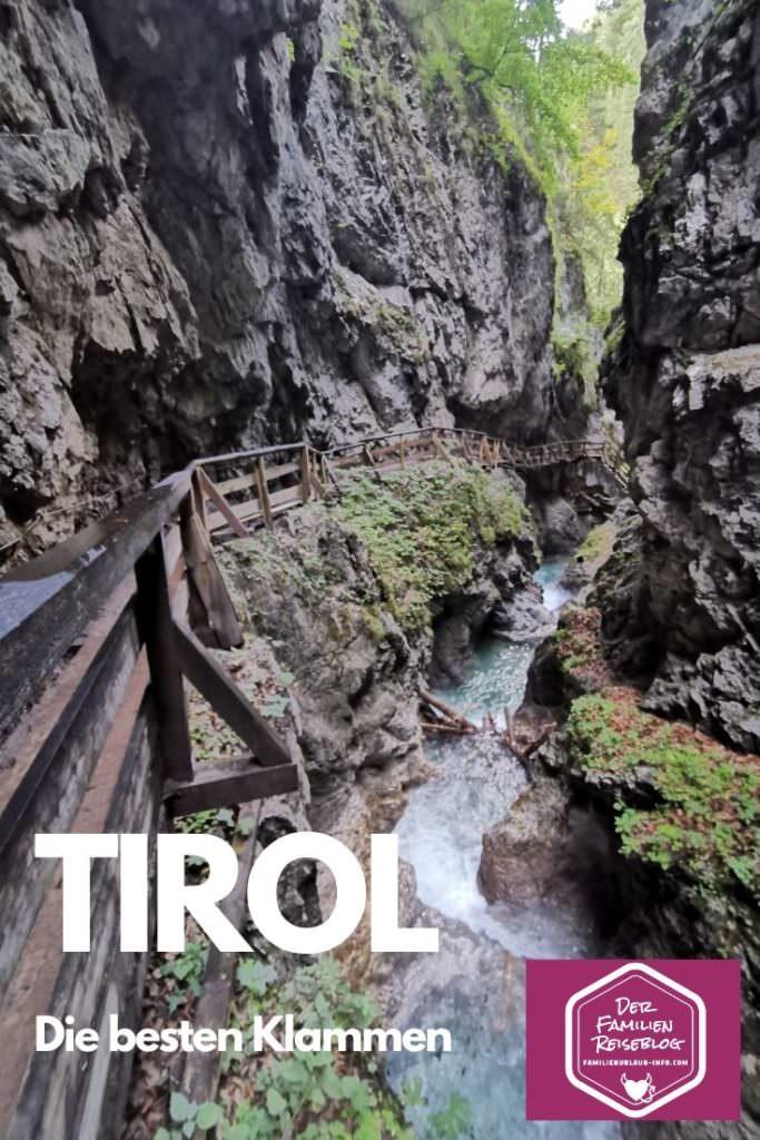 Klamm Tirol - merk sie dir für deine nächste Klammwanderung