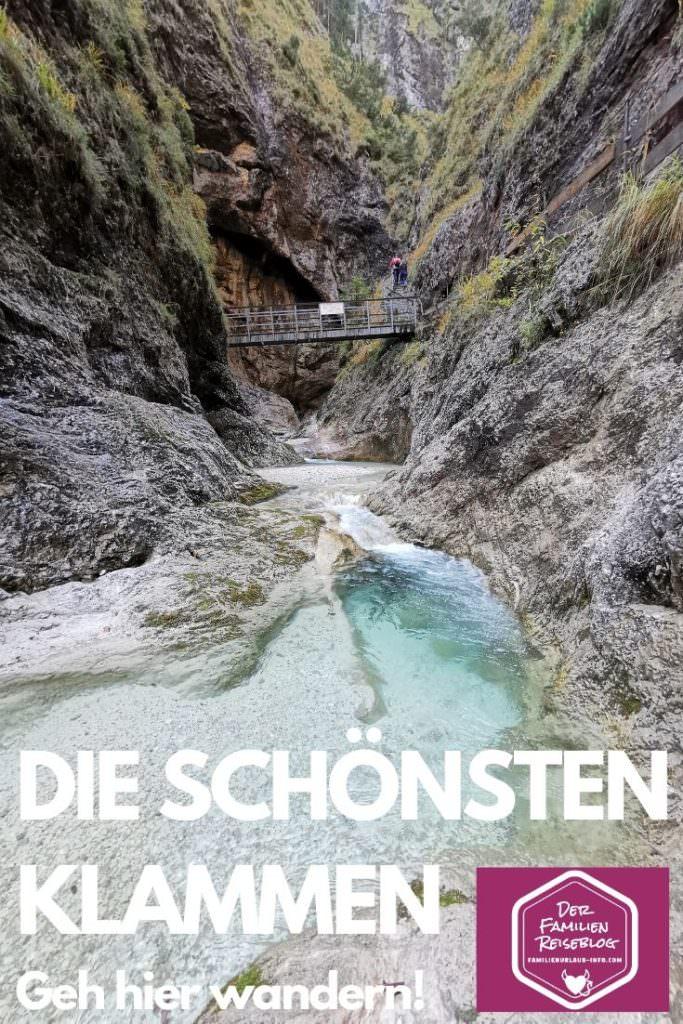 Ausflugsziele Österreich: Klamm wandern
