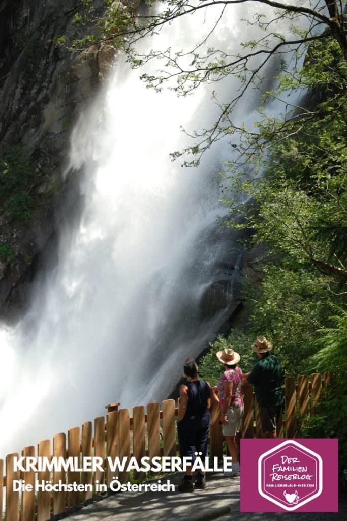 Krimmler Wasserfälle wandern - merk dir die höchsten Wasserfälle in Österreich für deinen nächsten Ausflug