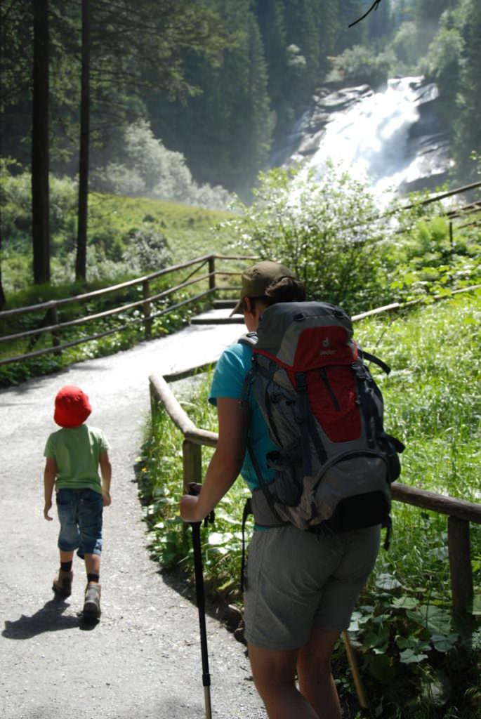 Krimmler Wasserfälle wandern mit Kindern