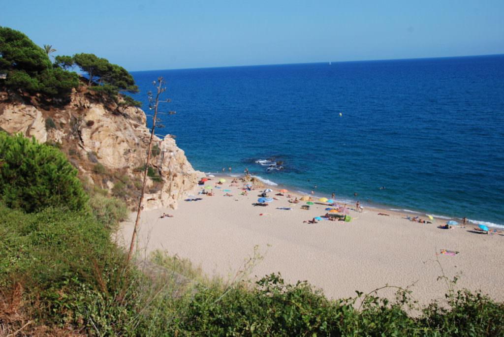 Malgrat del mar Strand - eine Bucht weiter
