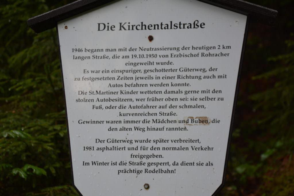Wissenswertes über die Kirchentalstraße