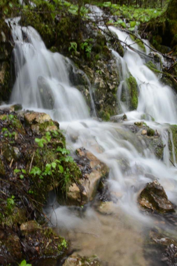 Die Wasserfälle auf dem Weg zur Wallfahrtskirche