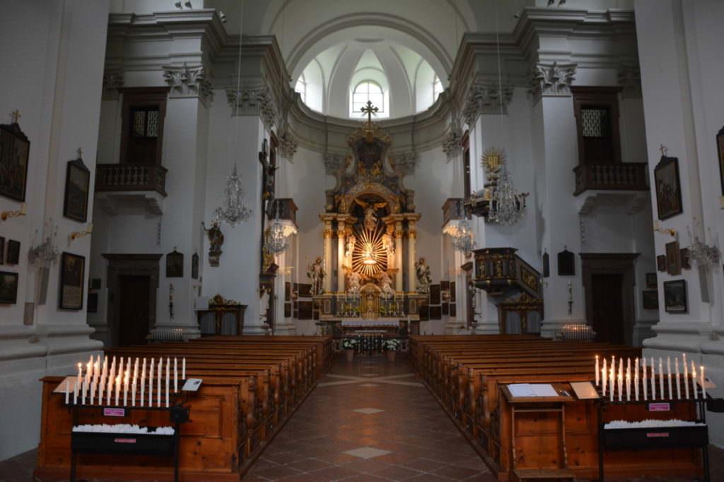 Maria Kirchental - der Innenraum der Wallfahrtskirche im Salzburger Land