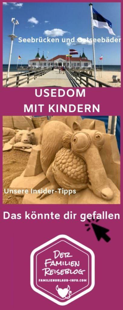 Ostsee Usedom mit Kindern - Insidertipps merken für den nächsten Familienurlaub Ostsee