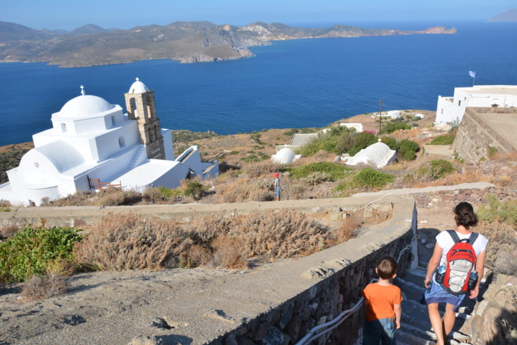 Plaka Milos - mit dem Blick auf´s Meer