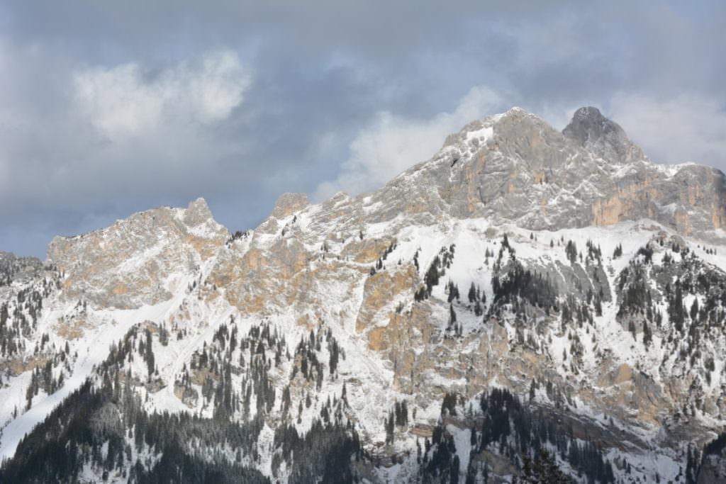 Rodeln Tannheimer Tal - mit diesem Blick auf die Berge