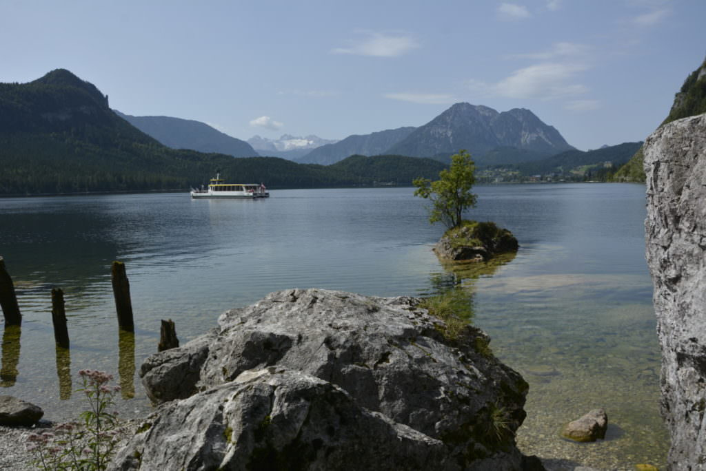 Salzkammergut Wanderung mit Kindern - hier der schöne Altausseer See