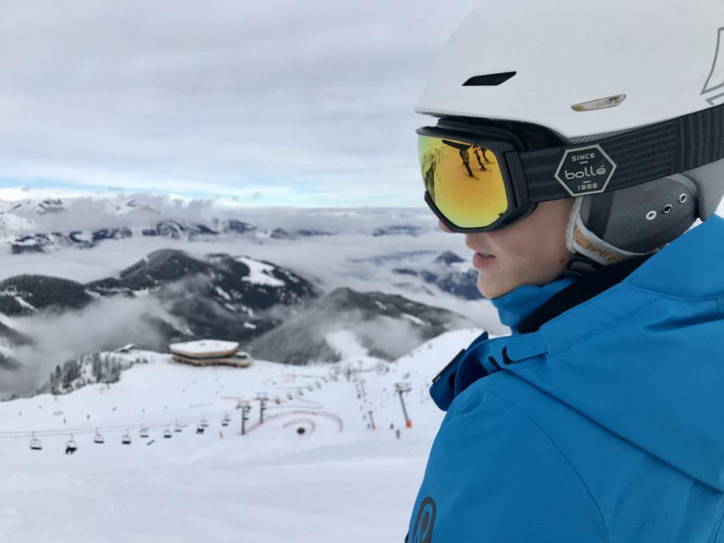 Skifahren mit Kindern in Österreich - Fernblick auf dem Spieljoch im Zillertal