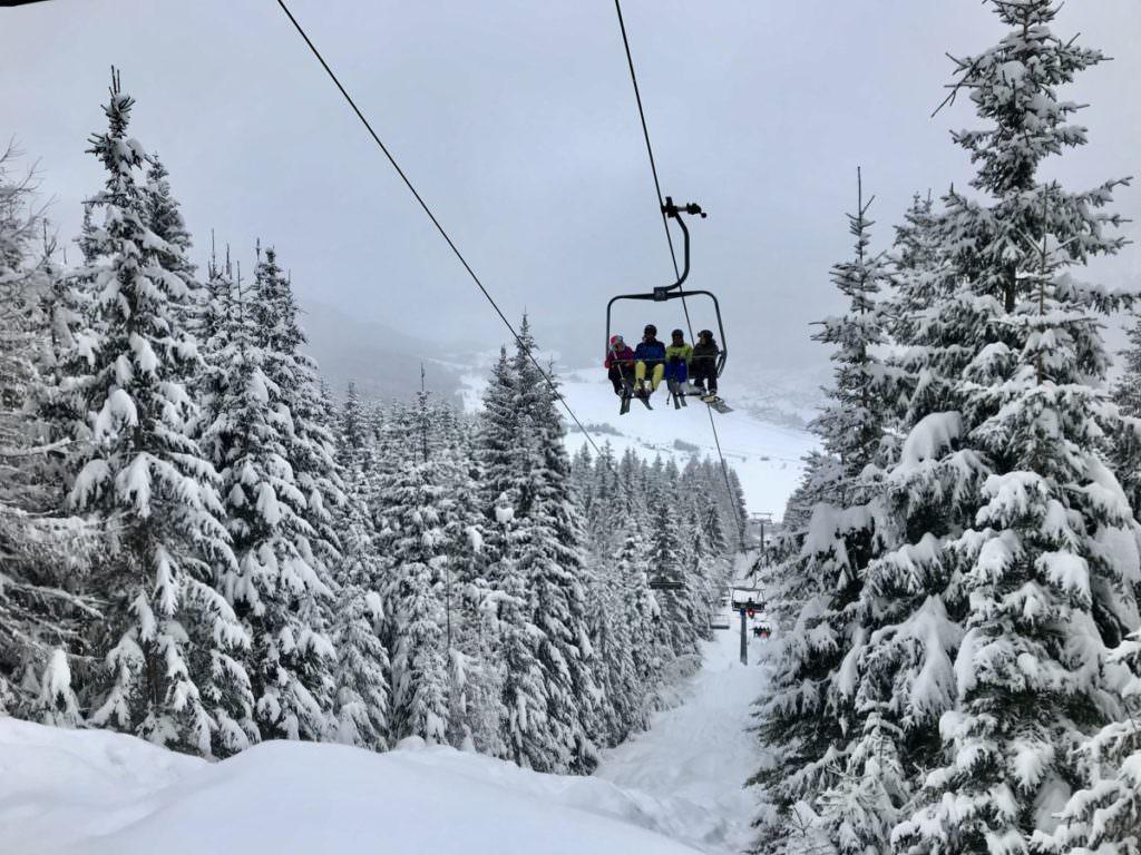 Skigebiet Weissensee bei Neuschnee