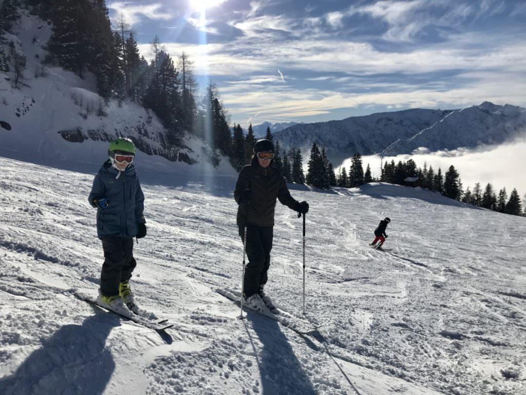 Skiurlaub Tirol mit Kindern - auf der Skipiste im Rofan