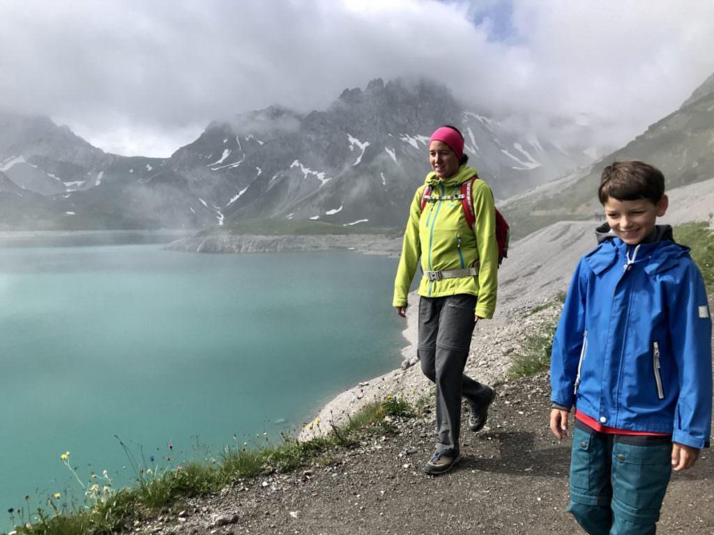 Wandern mit Kindern am Lünersee