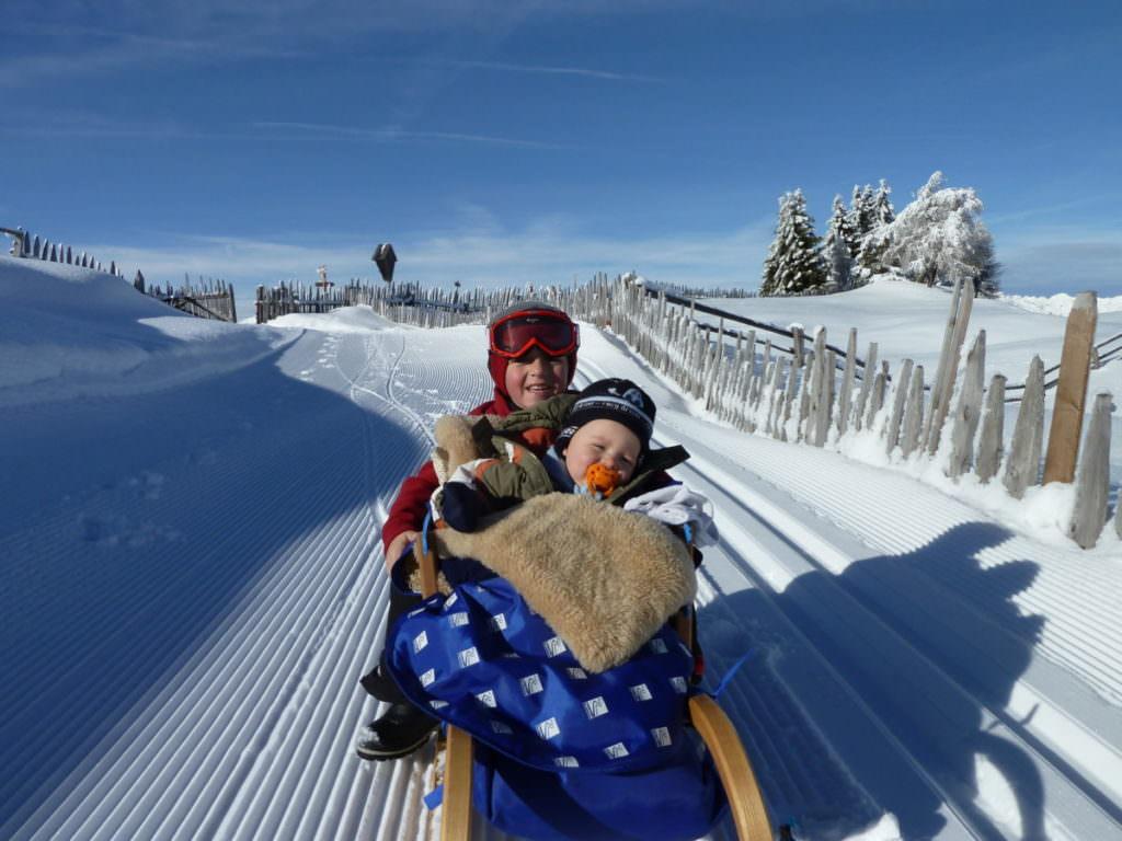 Winterwandern Südtirol mit Kleinkind - auf der Rodenecker Alm