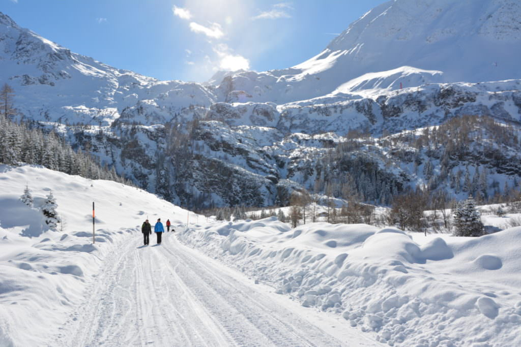 Winterwandern Salzburg - in Rauris am Kolm Saigurn