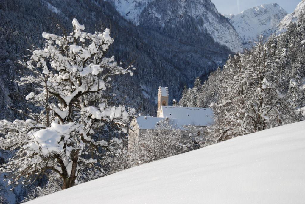 Winterwandern Tirol - wenn der Neuschnee von der Sonne beschienen wird