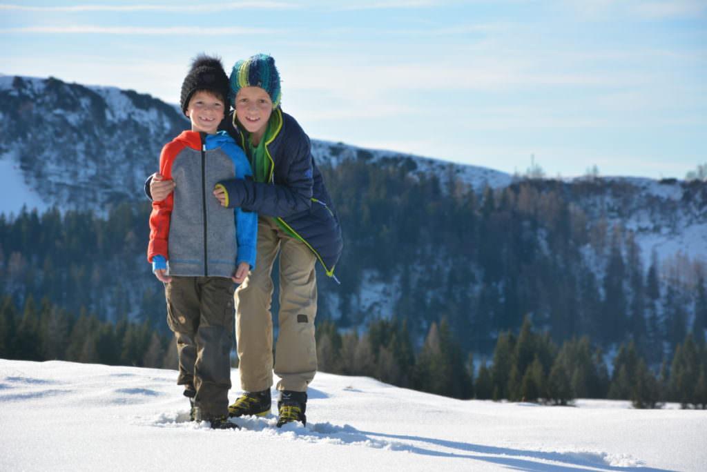 Winterwandern mit Kindern - ihnen gefällt das auch :-)
