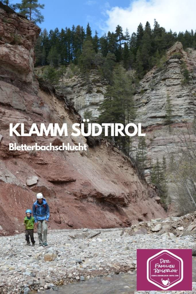 Bletterbachschlucht - Klamm Südtirol bei Bozen