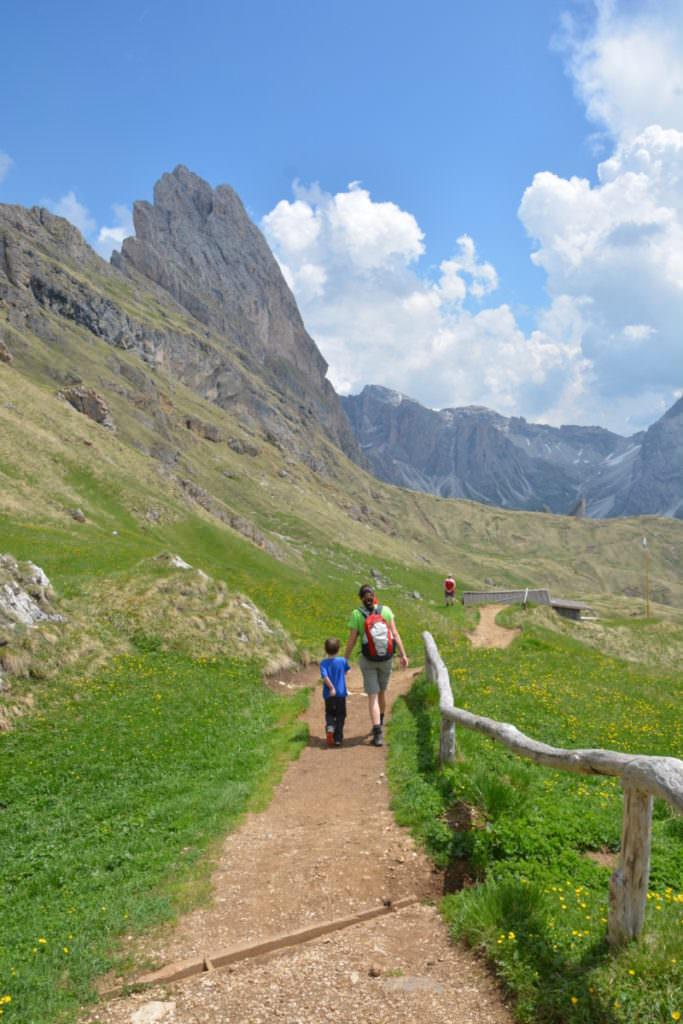 Panascharte mit Kindern - schöne Wanderung in den Dolomiten