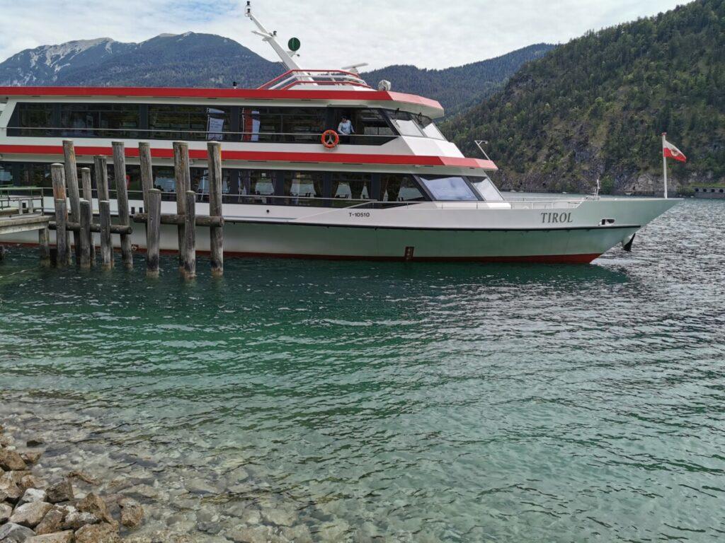 Die Achensee Schifffahrt startet bei der Gaisalm
