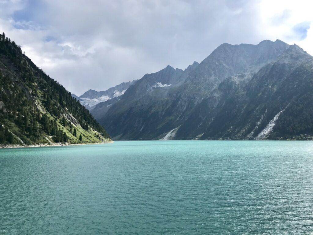 Ausflugsziele Tirol - der tolle Schlegeisspeicher im Zillertal