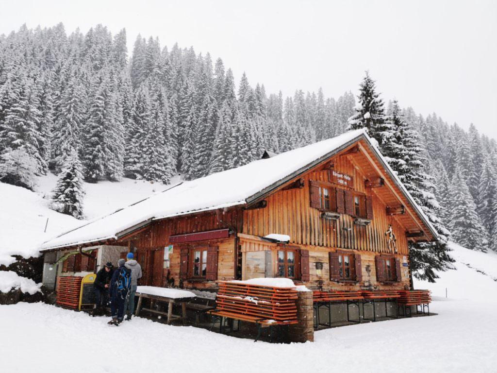 Wanderziel im Winter: Die Bärgunthütte