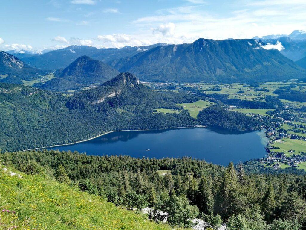 Bad Aussee mit Kindern - Blick vom Loser aus den Altausseer See