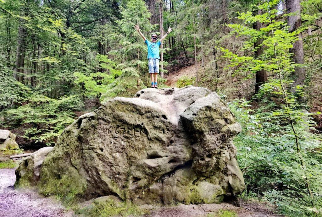 Im Amselgrund Richtung Bastei wandern mit Kindern - incl. Felsbesteigung