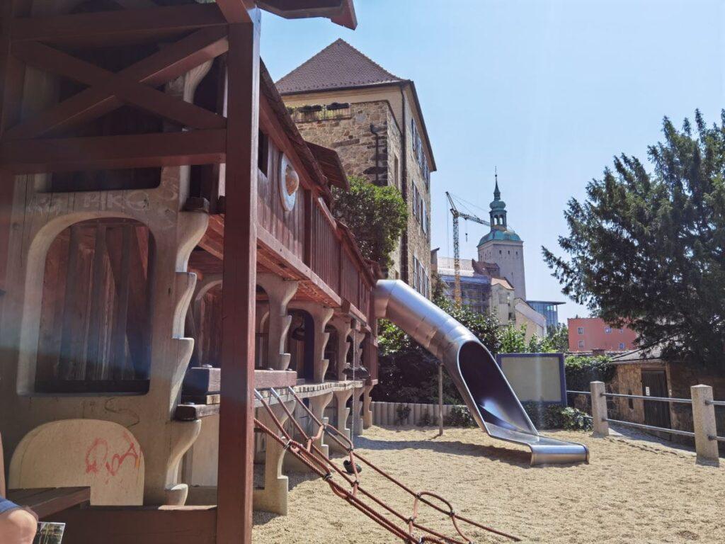 Bautzen Spielplatz - gleich gegenüber vom Turm der Alten Wasserkunst