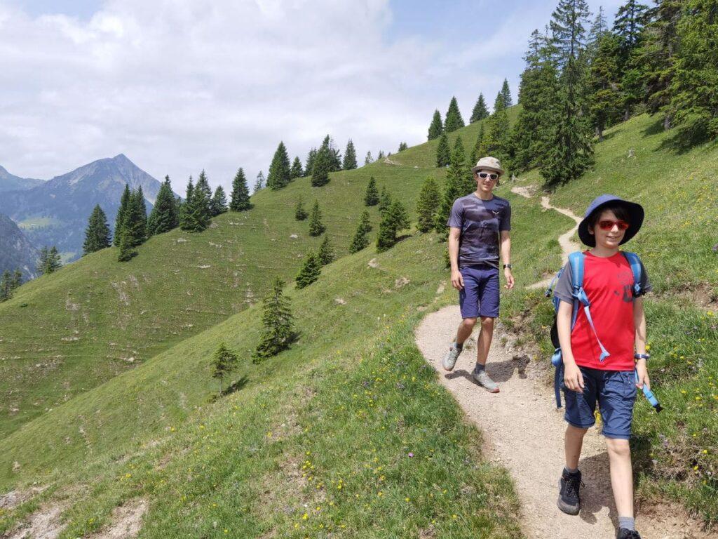 Auf dem Seebergkopf in Bayrischzell wandern mit Kindern