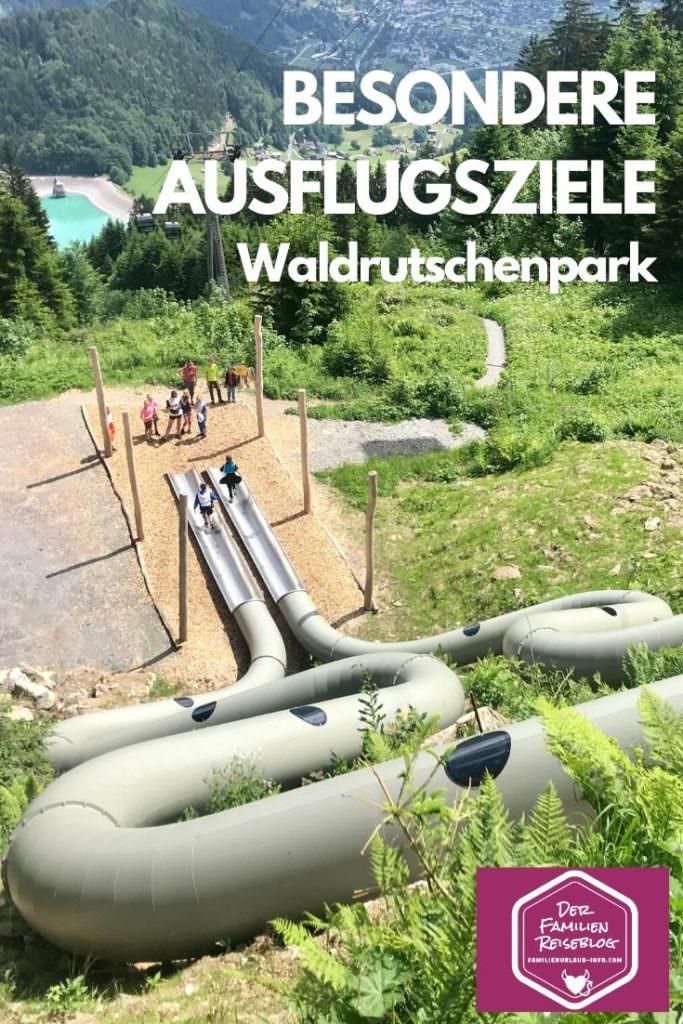 Besondere Ausflugsziele - der einmalige Waldrutschenpark im Montafon