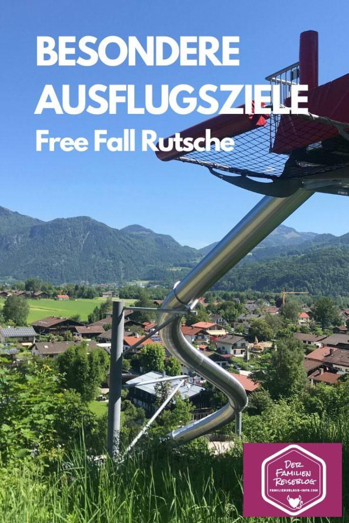 Besondere Ausflugsziele Bayern - die Free-Fall-Rutsche am Hocheck