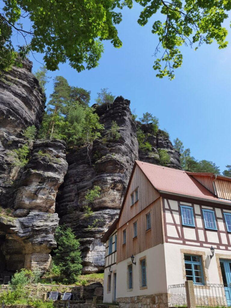 Sächsische Schweiz wandern mit Kindern - unser Start im idyllischen Bielatal