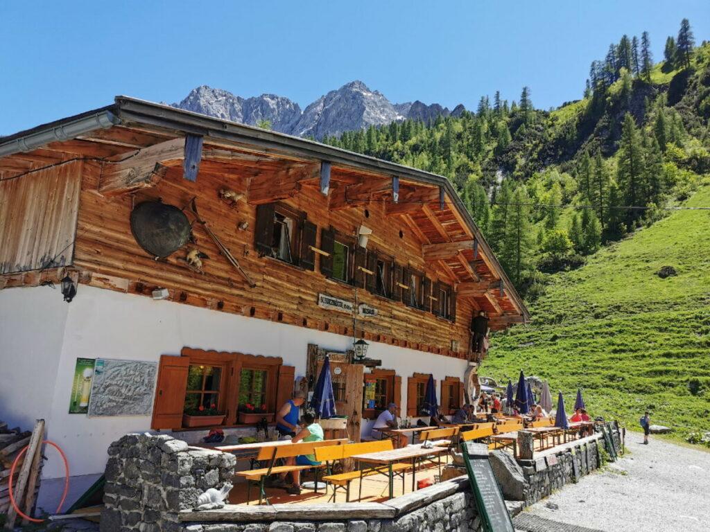 Wandern mit Kinderwagen Tirol - zur Binsalm im Karwendel