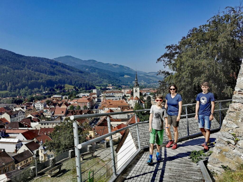 Auf den Schlossberg in Bruck an der Mur wandern