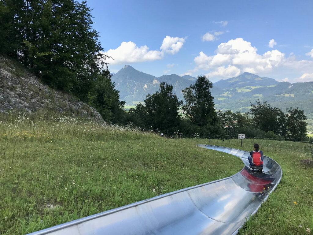 Genial am Chiemsee mit Kindern: Die Sommerrodelbahn Hocheck, Oberaudorf